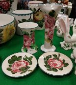 "A Wemyss Pottery ""Cabbage Rose"" design h"