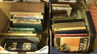 Two boxes of assorted vintage books and