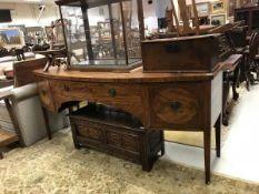 A Regency mahogany bow fronted sideboard