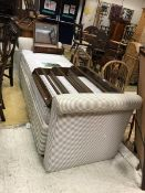 A late 20th Century upholstered day bed