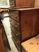 A pair of modern pine chests of five lon
