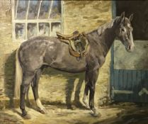 "M M LATHAM ""Harold"", study of a grey hun"