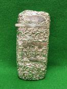 A silver cigar case (by Nathaniel Mills,