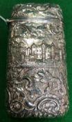 A silver cigar case (by Edward Smith, Bi