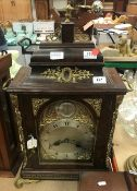 A 19th Century mahogany bracket clock fo