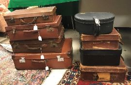 A collection of seven various leather or
