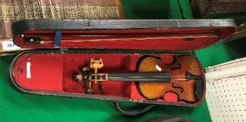 An early 20th Century child's violin in