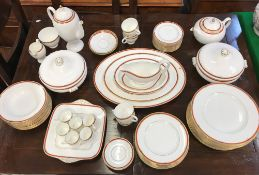 """A Wedgwood """"Colorado"""" part dinner, tea and coffee service comprising two oval serving plates,"""