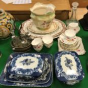 """A collection of china wares to include a Royal Stafford """"Evesham"""" part tea service,"""