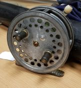 """A Hardy """"Super Silex"""" 4"""" spinning reel 10."""