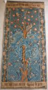 """A French Gobelys machine made tapestry depicting tree inscribed """"I Once a King and Chief,"""