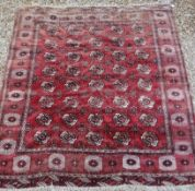 A Bokhara carpet with all over elephant