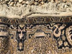 A silk mix prayer rug,