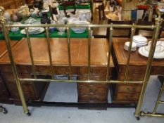 A modern Victorian style double bedstead
