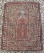 An Ushak prayer rug,