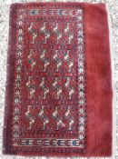 A Bokhara Juval rug with all over stylis