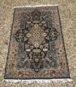 A Persian design rug with centre medalli