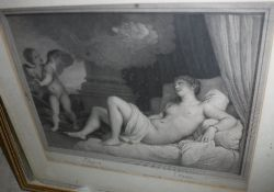 """AFTER TITIAN """"Danae"""", study of Diana and"""