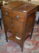 A late George III mahogany night table /