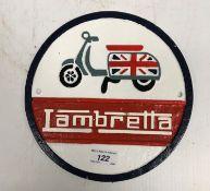 "A modern painted cast metal sign ""Lambre"