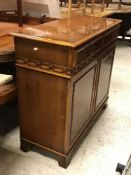 A Charles Barr yew wood dining room suit