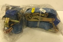 Two 35 mm x 6 metre lorry straps