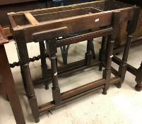 An 18th Century oak side table with late