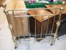A modern Victorian style brass single be