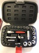 A 46 piece socket and bit set,