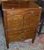 A late George III mahogany night table,