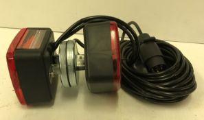 A magnetic trailer light set