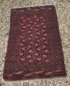 A Bokhara Tekke rug with all over elepha