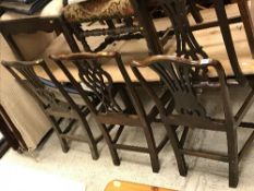 Six various 19th Century dining chairs i