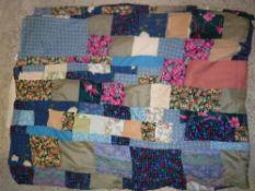 A vintage patchwork quilt cover