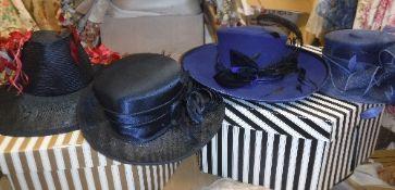 Four ladies dress hats, one by Ziggi