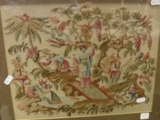 An early 19th Century woodwork embroider