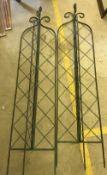 Two 6ft folding lattice garden spires
