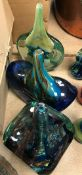 """A collection of three Mdina vases, two inscribed """"Mdina"""","""
