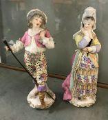 "A pair of 19th Century Samson of Paris figures ""Precieuse"" and ""Léandre"","