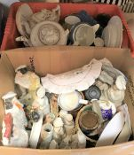 """Four boxes of assorted china wares, etc, to include Royal Worcester """"Evesham"""","""
