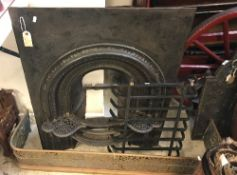 A 19th Century cast iron bedroom firepla