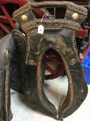 A 19th Century French leather heavy hors