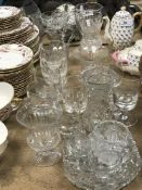 A collection of glassware to include a s