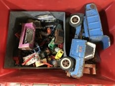A large collection of playworn toys to i