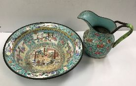 A Chinese Canton enamel on copper bowl,