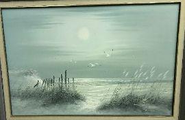"DUNLOP ""Coastal scene with seagulls, sea"