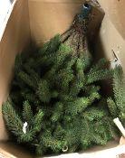 An artificial Christmas tree