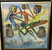 "JOCKEY ""Three African women with face de"