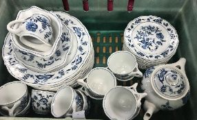 """A large collection of """"Blue Danube"""" dinner and tea wares including tureens, dinner plates,"""