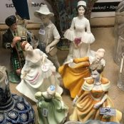 "Five various Royal Doulton figurines including ""The Laird"" (HN2361), ""Carol"" (HN2961),"